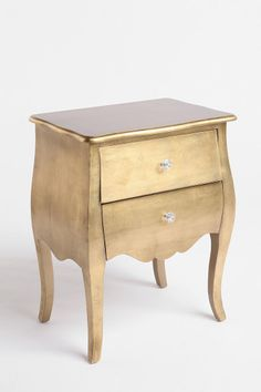 Urban Outfitters - Brass Leaf Side Table - $179 - LOVE. Maybe i can find paint to make this happen and repurpose furniture...