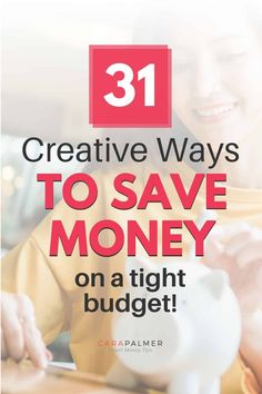 31 Creative and fun ways to save money at home. Whether you're saving money for a wedding, or a fun vacation, this list has plenty of ideas to get you to your goal faster. Discover lots of frugal ways to save that you haven't thought of before. Best Money Saving Tips, Money Saving Challenge, Money Tips, Saving Money, Make More Money, Ways To Save Money, Extra Money, Money Plan, Managing Your Money
