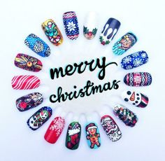 Love these Christmas nails