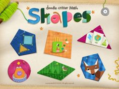 Math app for geometry doodle critter math shapes app fun early geometry learning for kids math Kindergarten Activities, Activities For Kids, Best Educational Apps, Learning Shapes, Math For Kids, Math Games, Doodles, Geometry, Doodle