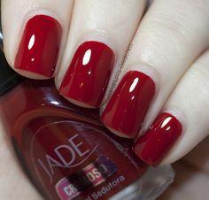 REALLY REALLY WANT IT :: Jade - Adoravel Sedutora :: A long wearing, vampy deep red cream that goes on like a dream. Fully opaque in 2 coats. J   #samariumsswatches #rednails #rednailpolish