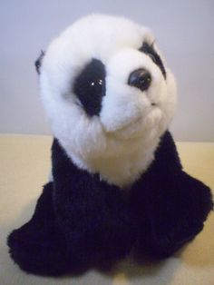 "Gund San Diego Zoo Black White Baby Panda Bear Zhen Zhen 31124 Stuffed Plush 8"" #GUND"