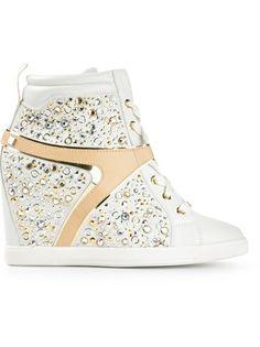 Ballin - embellished wedge sneakers