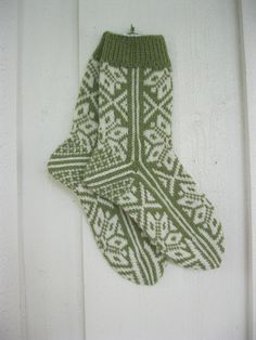 Hand-knitted socks from Norway