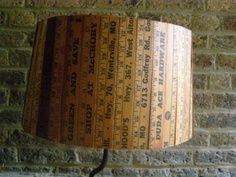 Rosely Pignataro: Reciclando com metro ou réguas de madeira.
