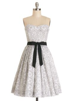 It Gist So Happens Dress, #ModCloth Not a huge fan of white dresses (even for weddings) but the detailing in this one makes it great.
