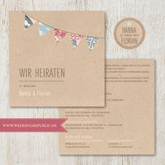 Hochzeitseinladung | Wedding Invitation | Save the date