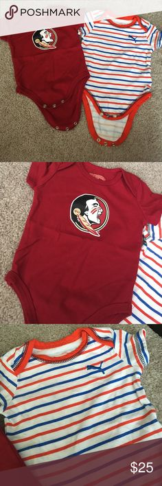 Baby boy onesies! Puma & Florida state ♥️ Puma and Florida state onesies ♥️ smoke free and pet free home 😍 these were only worn once. 0-3 and 3-6 month sizes! Puma One Pieces Bodysuits