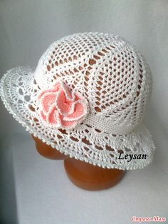 White Lace Hat with flower