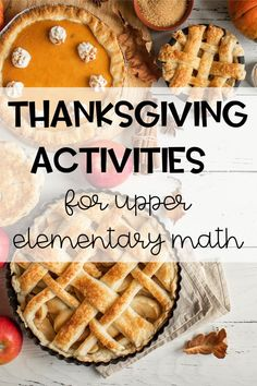 Thanksgiving Activities for Upper Elementary Math