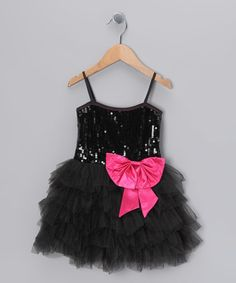Another great find on #zulily! Black Sequin Princess Dress - Toddler & Girls by Bébé Oh La La #zulilyfinds