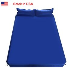 Double Outdoor Self Inflatable Air Mattress Sleeping Bed Travel Camping Hiking
