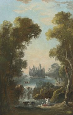 Hubert Robert, The Tomb of Jean Jacques Rousseau at Ermenonville