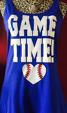 Game Time Baseball Tank by BaseballAlleyDesigns on Etsy