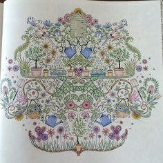 """Inspiratie Uit het kleurboek """"Mijn geheime tuin"""""""