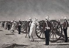 Mutineers (Indian freedom fighters) blasted from British guns by British soldiers in 1857