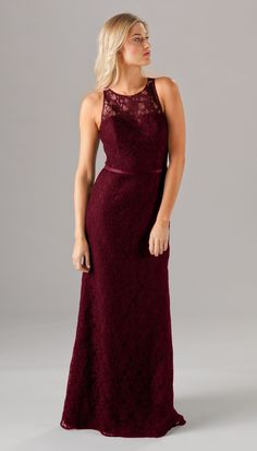 Finley Long Lace Bridesmaid Dress