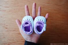 Adapted Crochet Pattern - Baby Booties