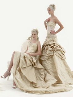 Champagne gowns