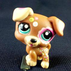 Littlest Pet Shop 1579 Jack Russel Dog Brown Tattoo LPS Toy HASBRO 2007