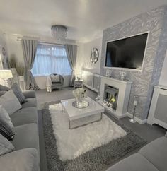 50 outstanding living room design for summer 50 Romantic Living Room, Decor Home Living Room, Glam Living Room, Elegant Living Room, Living Room Designs, Modern Living, Cozy Living Rooms, Gray Living Room Decor Ideas, Gray Room Decor