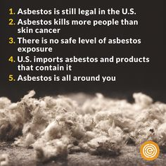 5 things you NEED to know about asbestos