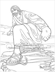Coloring pages of jesus standing ~ Waves crash against the the one standing firm. Stand firm ...