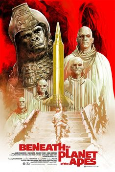 Beneath the Planet of the Apes movie poster Fantastic Movie Posters Fantasy Movies, Sci Fi Movies, Old Movies, Vintage Movies, Horror Movies, Creepy Movies, 2018 Movies, Fantasy Art, Science Fiction