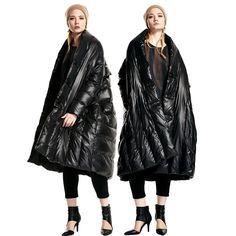 Original design female 90 white duck down fashion ultra long normic isconvoluting mantle type down coat