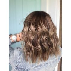 Hairstyles for shoulder-length wavy hair, . - # for # wavy . - Hairstyles for shoulder length wavy hair, – - Ashy Hair, Brown Blonde Hair, Ashy Blonde, Blonde Hair For Brunettes, Dark Brunette, Brunette Hair, Dark Hair, Medium Hair Styles, Curly Hair Styles