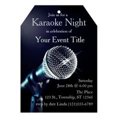Editable adult karaoke party invitation birthday invitation diy adults karaoke party custom invitation stopboris
