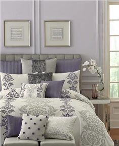 Lilac And Grey Bedroom Decorating Ideas