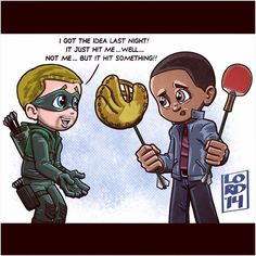 It Just Hit Me! #Arrow #TrickArrow #BoxingGloveArrow #fanart <3