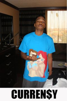 Curren$y in the Another Enemy Princesses gone Wild Tee | www.AnotherEnemy.com