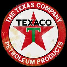 oil company signs | The Texas Company Vintage Style Sign Vintage Gas - Oil Signs Signs ...