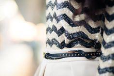 sequin sweater, skirt, and belt