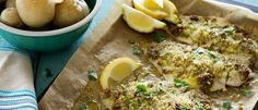 Baked Pesto Snapper Fillets recipe from Food in a Minute - quick easy and tasty