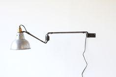 GEORGES HOUILLON WALL LAMP https://www.galerie44.com/collection/luminaires/applique-georges-houillon-abat-jour-aluminium-1930-details