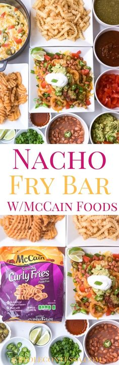 Nacho Fry Bar with McCain Foods-Creole Contessa - Creole Contessa Appetizers For Party, Appetizer Recipes, Dinner Recipes, I Love Food, Good Food, Yummy Food, Mexican Dishes, Mexican Food Recipes, Nacho Fries