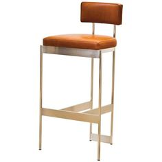 Alto Stool by Powell & Bonnell on HomePortfolio-Ralph Hays Contemporary Designs - Seattle - avail in red, nickel, pewter, chrome and brass