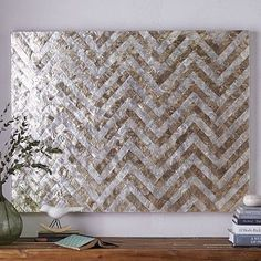 Capiz Wall Art – Chevron #westelm Saw this in the store and wonder if it could go above buffet?