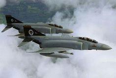 RAF Phantom FGR2's of 74 Squadron.