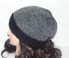 The tweed grey hat is made in a closed stitch and black ribbed rim. Really nice colors in tweed grey yarn and black. Great for any man looking for a casual hat to wear with Jeans. MADE TO ORDER Color: Tweed grey and black Material: 100% soft acrylic yarn Size: Adult / Teen Machine Wash - Washing and Care instructions sent with every item