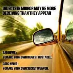 Your biggest enemy or your greatest asset? Look in the mirror and decide. #makeithappen