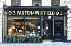 London cheese shop - Paxton & Whitfield, Jermyn Street; first appointed cheesemonger to HM Queen Victoria in 1850