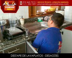 DESTAPE DE LAVAPLATOS - DESTAPAMOS TUBERÍAS Servicio de destape de lavaplatos, sondeo y limpieza, reparación de griferia, destapemos lavaplatos, lavaderos, lavamanos, desagües de aguas negras, servicio de plomería: 3124657213 - 5351399  Contamos con el personal adecuado para atender efectivamente cualquier daño o reparaciones que nos solicite. También realizamos trabajos a las afueras de Bogotá, en los municipios.