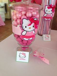 Hello Kitty Baby Shower, Hello Kitty Theme Party, Hello Kitty Themes, Hello Kitty Cake, Shower Baby, Decoracion Hello Kitty, Anniversaire Hello Kitty, Do It Yourself Baby, Wonderful Day