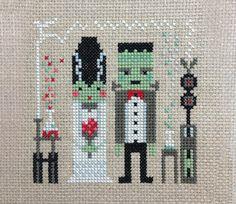Fran and Frankie modern counted cross stitch by FoxYouAreSoCrafty, $8.00