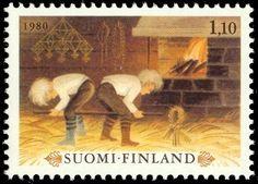 Joulupostimerkki 1980 2/2 Christmas stamp 1980 Finland