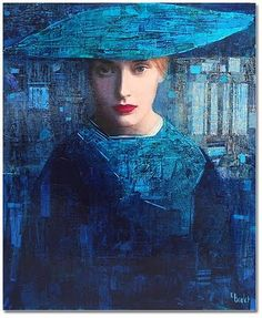 By Richard Burlet (1957-Present) Considered an abstract-figurative artist of accomplishment.